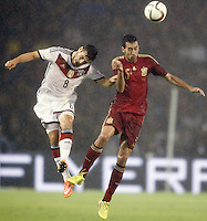 Spain's Sergio Busquets (r) and Germany's Volland during international friendly match.November 18,2014. (ALTERPHOTOS/Acero) /NortePhoto<br />