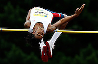 Photo: Richard Lane/Richard Lane Photography..Aviva World Trials & UK Championships athletics. 11/07/2009. Mike Edwards in the men's high jump.