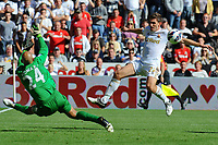 Saturday 22 September 2012 <br /> Pictured: Angel Rangel<br /> Barclays Premiership, Swansea City v Everton at the Liberty Stadium, south Wales.