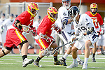 Mission Viejo, CA 05/14/11 - Anthony Marsala (Loyola #19) and unidentified Mission Viejo player in action during the Division 2 US Lacrosse / CIF Southern Section Championship game between Mission Viejo and Loyola at Redondo Union High School.