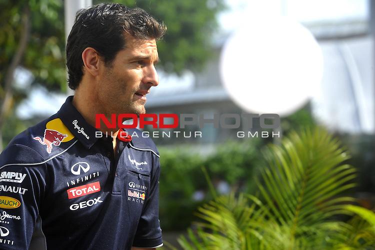 19.-22.09.2013, Marina-Bay-Street-Circuit, Singapur, SIN, F1, Grosser Preis von Singapur, Singapur, Mark Webber (AUS), Red Bull Racing <br />  Foto &copy; nph / Mathis