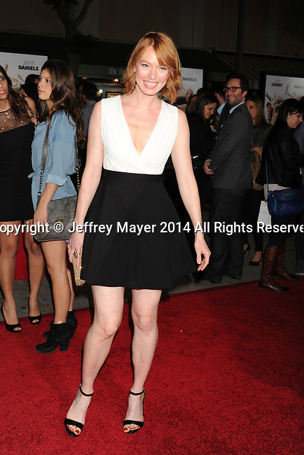 WESTWOOD, CA - NOVEMBER 03: Actress Alicia Witt arrives at the Los Angeles premiere of 'Dumb And Dumber To' at Regency Village Theatre on November 3, 2014 in Westwood, California.