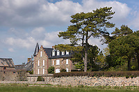 Europe/France/Normandie/Basse-Normandie/50/Manche/Genêts: Le village et les prés salés //  // France, Manche, Genets: the village and  salt marsh