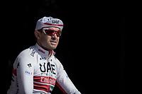Alexander Kristoff (NOR/UAE) at the  pre race team presentation<br /> <br /> 62nd E3 Harelbeke 2019 (1.UWT)<br /> Harelbeke – Harelbeke: 203,9km<br /> ©kramon