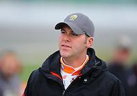 Oct. 3, 2009; Kansas City, KS, USA; NASCAR Nationwide Series driver Peyton Sellers during qualifying for the Kansas Lottery 300 at Kansas Speedway. Mandatory Credit: Mark J. Rebilas-