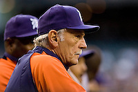 July 5, 2008: Detroit Tigers manager Jim Leyland during a game against the Seattle Mariners at Safeco Field in Seattle, Washington.