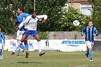Stratford Juniors score their second goal - Inter Moore (blue/black) vs Stratford Juniors (white) - East London Sunday League Jubilee Cup Final at Wadham Lodge - 01/05/11 - MANDATORY CREDIT: Gavin Ellis/TGSPHOTO - Self billing applies where appropriate - Tel: 0845 094 6026