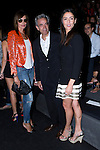 02.09.2012. Celebrities attending the Roberto Torretta fashion show during the Mercedes-Benz Fashion Week Madrid Spring/Summer 2013 at Ifema. In the image (L-R) Nieves Alvarez, Inmanol Arias and Irene Meritxell  (Alterphotos/Marta Gonzalez)