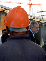 Roma 20 Giugno 2007.Walter veltroni visita il cantiere dell'ex mattatoio dove sorgerà la città dell'Altra Economia..Rome June 20, 2007.Walter Veltroni, visited the construction site  will be built where the city Alternative Economy
