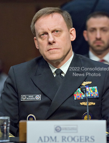 Admiral Michael Rogers, Director of the National Security Agency (NSA), testifies during the United States Senate Select Committee on Intelligence hearing titled &quot;Worldwide Threats&quot; on Capitol Hill in Washington, DC on Thursday, May 11, 2017.  <br /> Credit: Ron Sachs / CNP<br /> (RESTRICTION: NO New York or New Jersey Newspapers or newspapers within a 75 mile radius of New York City)