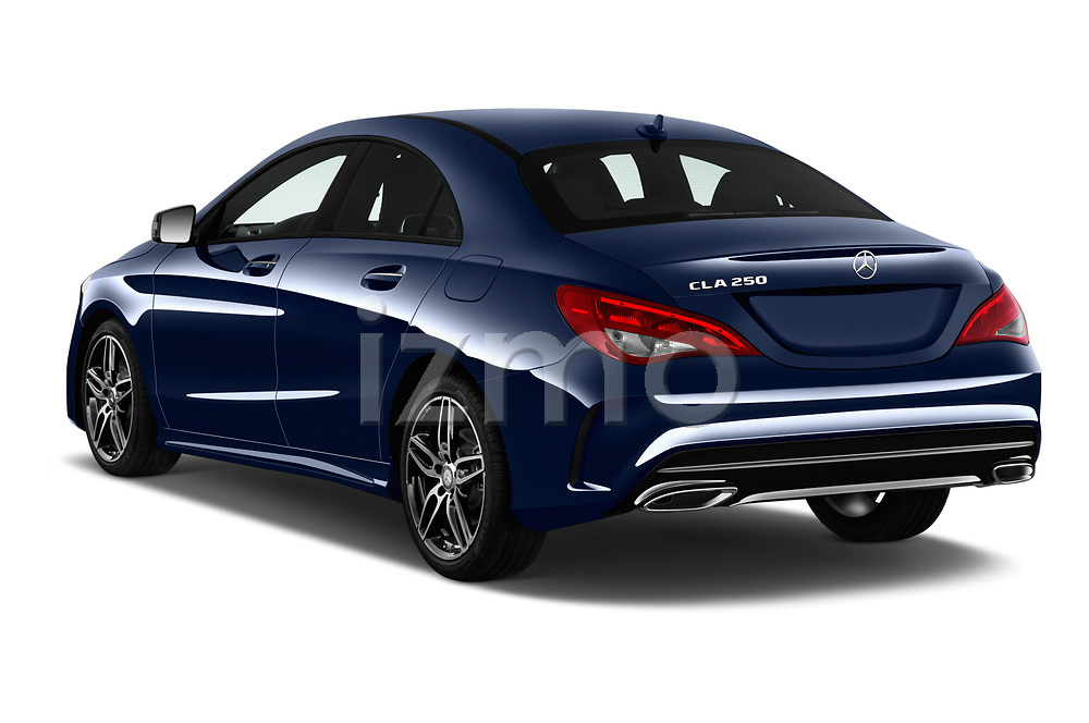 Car pictures of rear three quarter view of a 2019 Mercedes Benz CLA CLA250 5 Door SUV angular rear