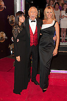 Claudia Winkleman, Bruce Forsyth and Tess Daly at the Strictly Come Dancing Launch, London, 02/09/2014 Picture by: Alexandra Glen / Featureflash