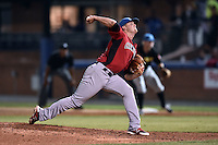 Hickory Crawdads pitcher Collin Wiles (11) delivers a pitch during the South Atlantic League All Star Game on June 23, 2015 in Asheville, North Carolina. The North Division defeated the South 7-5(Tony Farlow/Four Seam Images)