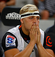 Dylan Richardson of the Cell C Sharks during the Super rugby match between the Cell C Sharks and the Emirates Lions at Jonsson Kings Park Stadium in Durban, South Africa 30 March 2019. Photo: Steve Haag / stevehaagsports.com
