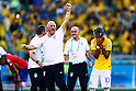 (L-R) Luiz Felipe Scolari, Neymar (BRA),<br /> JUNE 28, 2014 - Football / Soccer :<br /> Luiz Felipe Scolari and Neymar of Brazil celebrates after winning the penalty shoot out during the FIFA World Cup Brazil 2014 Round of 16 match between Brazil 1(3-2)1 Chile at Estadio Mineirao in Belo Horizonte, Brazil. (Photo by D.Nakashima/AFLO)