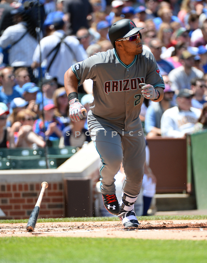 Arizona Diamondbacks Yasmany Tomas (24) during a game against the Chicago Cubs on June 5, 2016 at Wrigley Field in Chicago, IL. The Diamondbacks beat the Cubs 3-2.