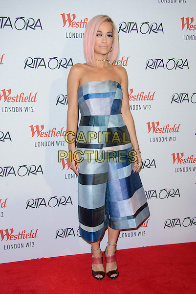 LONDON, ENGLAND - NOVEMBER 03: Rita Ora switches on the Christmas lights at Westfield Shopping Center, on November 03, 2014 in London, England. <br /> CAP/CJ<br /> &copy;Chris Joseph/Capital Pictures