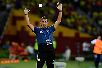 BUCARAMANGA - COLOMBIA, 06-02-2020: Fernando Batista técnico de Argentina durante partido entre Argentina U-23 y Colombia U-23 por el cuadrangular final como parte del torneo CONMEBOL Preolímpico Colombia 2020 jugado en el estadio Alfonso Lopez en Bucaramanga, Colombia. / Fernando Batista coach of Argentina during match against Colombia of for the final quadrangular as part of CONMEBOL Pre-Olympic Tournament Colombia 2020 played at Alfonso Lopez stadium in Bucaramanga, Colombia. Photo: VizzorImage / Julian Medina / Cont