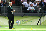 09 July 2006: Head coach Raymond Domenech (FRA). Italy tied France 1-1 in overtime at the Olympiastadion in Berlin, Germany in match 64, the championship game, of the 2006 FIFA World Cup Finals. Italy won the World Cup by defeating France 5-3 on penalty kicks.