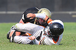 Palos Verdes, CA 09/22/11 - unknown Beverly Hills player(s) and unidentified Peninsula player(s)) in action during the Beverly Hills-Peninsula Varsitty Football gane.
