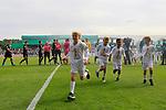 11.08.2019, Stadion Lohmühle, Luebeck, GER, DFB-Pokal, 1. Runde VFB Lübeck vs 1.FC St. Pauli<br /> <br /> DFB REGULATIONS PROHIBIT ANY USE OF PHOTOGRAPHS AS IMAGE SEQUENCES AND/OR QUASI-VIDEO.<br /> <br /> im Bild / picture shows<br /> Spielbeginn mit Einlaufkindern.<br /> <br /> Foto © nordphoto / Freund