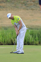 Philipp Mejow (GER) putts on the 17th green during Saturday's Round 3 of the Porsche European Open 2018 held at Green Eagle Golf Courses, Hamburg Germany. 28th July 2018.<br /> Picture: Eoin Clarke | Golffile<br /> <br /> <br /> All photos usage must carry mandatory copyright credit (&copy; Golffile | Eoin Clarke)