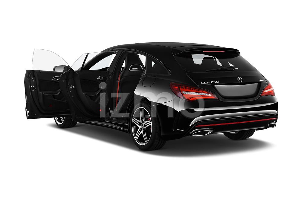 Car images close up view of a 2018 Mercedes Benz CLA Shooting Brake Sport 5 Door Wagon doors