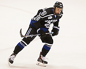 Danny Kucerovy (Bentley - 28) - The visiting Bentley University Falcons defeated the Northeastern University Huskies 3-2 on Friday, October 16, 2015, at Matthews Arena in Boston, Massachusetts.