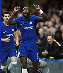 Antonio Rudiger of Chelsea celebrates scoring the opening goal of the game during the premier league match at Stamford Bridge Stadium, London. Picture date 30th December 2017. Picture credit should read: Robin Parker/Sportimage
