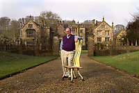 Bmth News (01202 558833)<br /> Pic: PhilYeomans/BNPS<br /> <br /> Furniture designer John Makepeace lived in the house before the Austrian tycoon.<br /> <br /> A £15m stately home has gone back on the market for a cut-price £2.5m after it was burnt to the ground in a suspected arson attack.