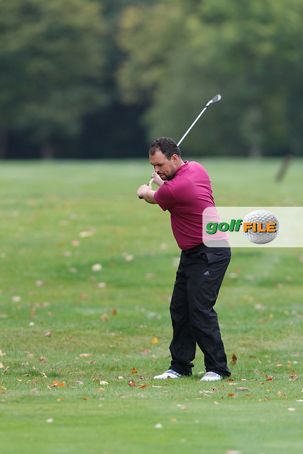 James Quinlivan (Mullingar) on the 18th during Round 2 of the 104th Irish PGA Championship at Adare Manor Golf Club on Friday 3rd October 2014.<br /> Picture:  Thos Caffrey / www.golffile.ie