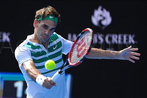 26.01.2016. Melbourne Park, Melbourne, Australia. Australian Open Tennis Championships. Roger Federer after his 3-set win over T Berdych (CZE) in the mens quarter-finals