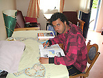 Fawaz Almakradi from Yemen who wants to study Economics pictured in the accomodation at Mosney on Day three of the Protest at Mosney, County Meath against the removal of 111 Asylum Seekers to Dublin...Photo NEWSFILE(Photo credit should read NEWSFILE)....This Picture has been sent you under the condtions enclosed by:.Newsfile Ltd..The Studio,.Millmount Abbey,.Drogheda,.Co Meath..Ireland..Tel: +353(0)41-9871240.Fax: +353(0)41-9871260.GSM: +353(0)86-2500958.email: pictures@newsfile.ie.www.newsfile.ie.FTP: 193.120.102.198.