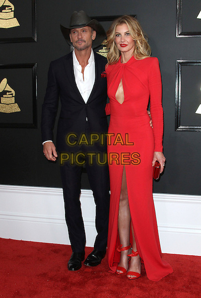 12 February 2017 - Los Angeles, California - Tim McGraw, Faith Hill. 59th Annual GRAMMY Awards held at the Staples Center.  <br /> CAP/ADM<br /> &copy;ADM/Capital Pictures