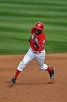Auburn Doubledays outfielder Telmito Agustin (3) running the bases during a game against the Batavia Muckdogs on September 7, 2015 at Falcon Park in Auburn, New York.  Auburn defeated Batavia 11-10 in ten innings.  (Mike Janes/Four Seam Images)