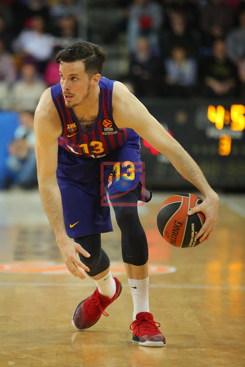 Turkish Airlines Euroleague 2018/2019. <br /> Regular Season-Round 30.<br /> FC Barcelona Lassa vs Khimki Moscow Region: 83-74. <br /> Thomas Heurtel.
