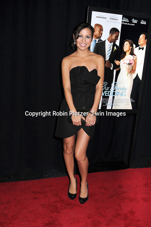 """actress Anjelah Johnson attending The screeening of """"Our Family Wedding"""" on March 9, 2010 at The Loews Lincoln Square Theatre in New York City."""