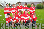 The team that was defeated at the final at Holy Family School, Tralee during the football tournament on Friday. Pictured, front Row, from left: Brian Teahan,  Sebastian Vasiu,  Mark Donovan,  Conor Fitzmaurice  and Graham Moriarty Flynn. Back row, from left: Aidan Mangan, Michael Flynn, Ciaran O?Reilly,  Kyle O?Brien and Dillon Kelliher.