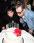 Liza Minnelli & Alan Cumming attending the Liza Minnelli 67th Birthday Celebration at the Copa in New York City on 3/13/2013..
