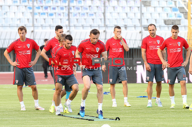 11.06.2015., Croatia, Split - Croatian national football team training in preparation for tomorrow's qualifying match with Italy on Poljud.  Ivica Olic, Danijel Pranjic. <br /> Foto &copy;  nph / PIXSELL / Ivo Cagalj