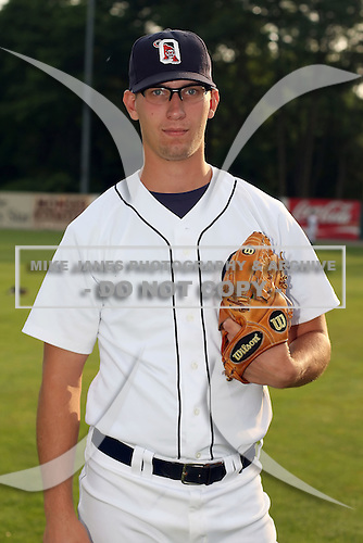 July 7th 2008:  Pitcher Mark Brackman of the Oneonta Tigers, Class-A affiliate of Detroit Tigers, during a game at Damaschke Field in Oneonta, NY.  Photo by:  Mike Janes/Four Seam Images