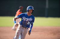 Kansas City Royals outfielder Michael Gigliotti (31) rounds third base during an Instructional League game against the San Francisco Giants at the Giants Training Complex on October 17, 2017 in Scottsdale, Arizona. (Zachary Lucy/Four Seam Images)