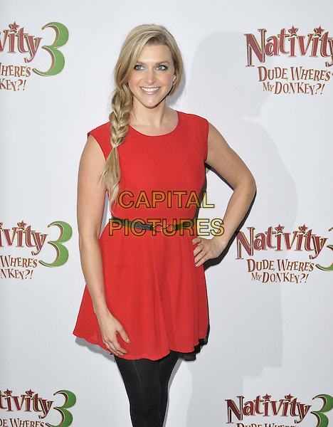 LONDON, ENGLAND - NOVEMBER 02: Anna Williamson attends the &quot;Nativity 3: Dude, Where's My Donkey&quot; UK film premiere, Vue West End cinema, Leicester Square, on Sunday November 02, 2014 in London, England, UK. <br /> CAP/CAN<br /> &copy;Can Nguyen/Capital Pictures