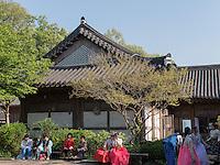 Traditionelles Viertel Hanok Maeul in Jeonju, Provinz Jeollabuk-do, Südkorea, Asien<br /> tradiional quarters Hanok Maeul in Jeonju, province Jeollabuk-do, South Korea, Asia