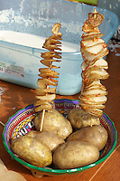 Mexican espiro papas or twisted potatoes at the Mexico Fest 2012 celebrations on Sept. 8, 2012 in Vancouver, British Columbia, Canada. These celebrations commemorated 202 years of Mexican Independence.