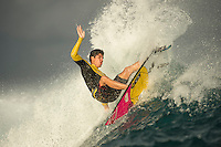 Cloudbreak, Namotu Island/Fiji (Friday, June 7, 2013) Gabriel Medina (BRA) surfing Restuarants before the contest was called off for the day. - The Volcom Fiji Pro was  finally called off  at 11 am this morning after a number of calls to evaluating the conditions proved fruitless. The vent had been on hold since 7.30 am with organisers  hoping that conditions would improve.<br /> Stop No. 4 of 10 on the ASP World Championship Tour (WCT), the Volcom Fiji Pro  has completed up to heat three of Round 3 and will now wait to see how the winds and a new swell due over the weekend improves the conditions. <br />  Photo: joliphotos.com