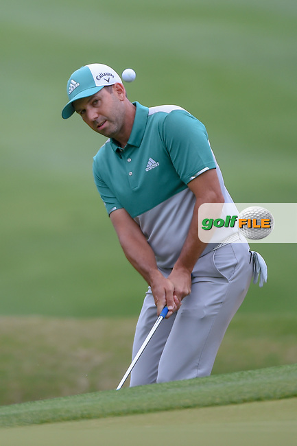 Sergio Garcia (ESP) chips on to 6 during day 4 of the WGC Dell Match Play, at the Austin Country Club, Austin, Texas, USA. 3/30/2019.<br /> Picture: Golffile   Ken Murray<br /> <br /> <br /> All photo usage must carry mandatory copyright credit (© Golffile   Ken Murray)