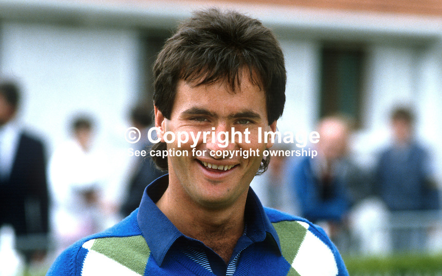David Feherty, professional golfer, Bangor, Co Down, N Ireland, at Carrolls Irish Open 1985. 19850606DF2..Copyright Image from Victor Patterson, 54 Dorchester Park, Belfast, UK, BT9 6RJ..Tel: +44 28 9066 1296.Mob: +44 7802 353836.Voicemail +44 20 8816 7153.Skype: victorpattersonbelfast.Email: victorpatterson@me.com.Email: victorpatterson@ireland.com (back-up)..IMPORTANT: If you wish to use this image or any other of my images please go to www.victorpatterson.com and click on the Terms & Conditions. Then contact me by email or phone with the reference number(s) of the image(s) concerned.