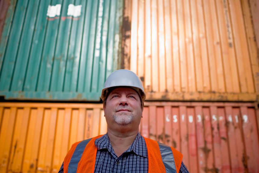 David Doeringsfeld is the manager at the Port of Lewiston in Lewiston, Idaho and has worked there for 16 years. He is tasked with storing the $2 billion of equipment that started arriving from Portland, Ore. on Thursday October 14.   ..(Matt Mills McKnight for The Wall Street Journal)
