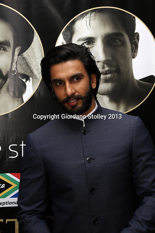 DURBAN - 5 September 2013 - Bollywood star Ranveer Singh faces up to the media in Durban, South Africa, where he is attending the South Africa INdia Film and Television Awards. Picture: Allied Picture Press/APP